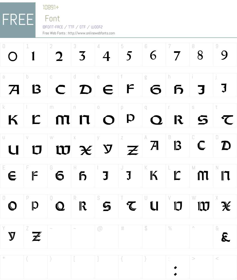 Orotund Capitals Font Screenshots