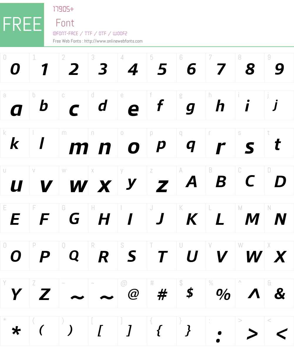 QuboW01-BoldItalic Font Screenshots