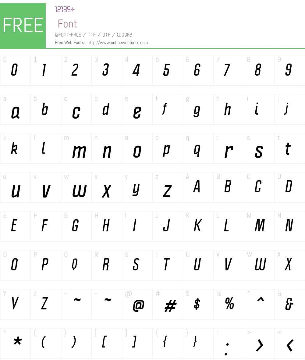 Politica Font Screenshots
