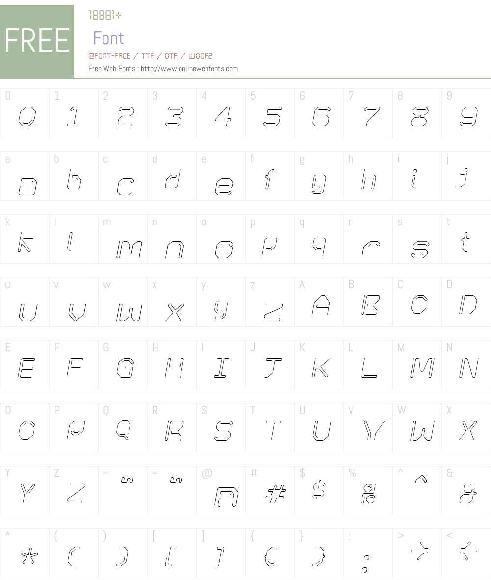 KneeonLight Italic Font Screenshots