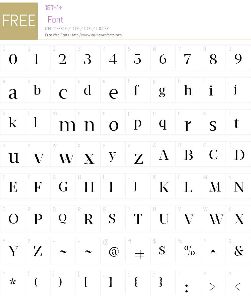Mafra Display Font Screenshots