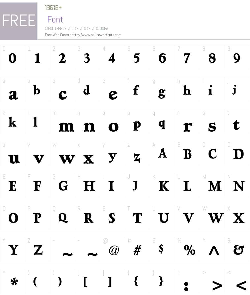 Hadriano Std Font Screenshots