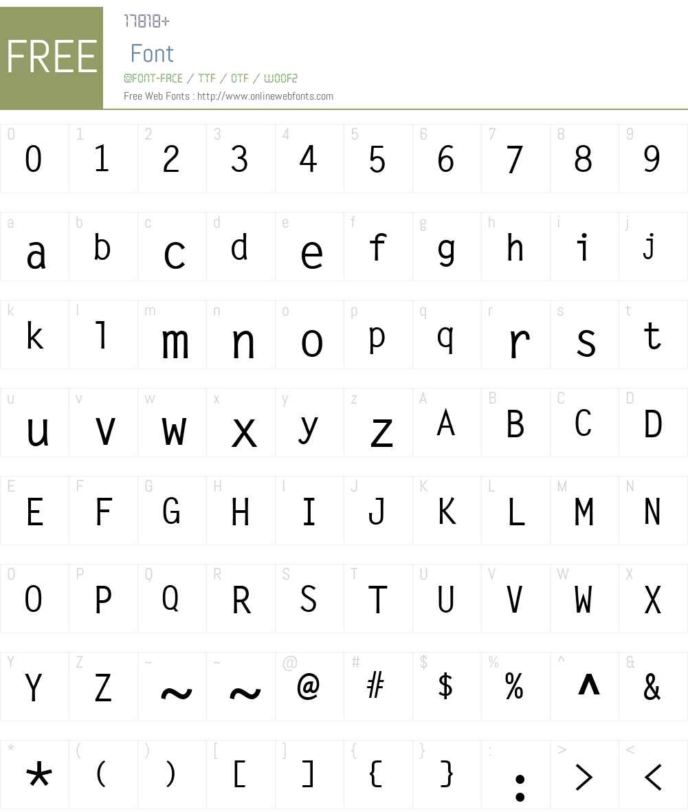 LetterGothicW01-LMedium Font Screenshots