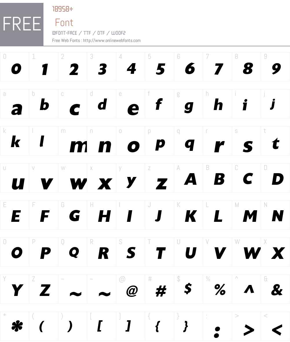 UnitaW01-ExtraBoldOblique Font Screenshots