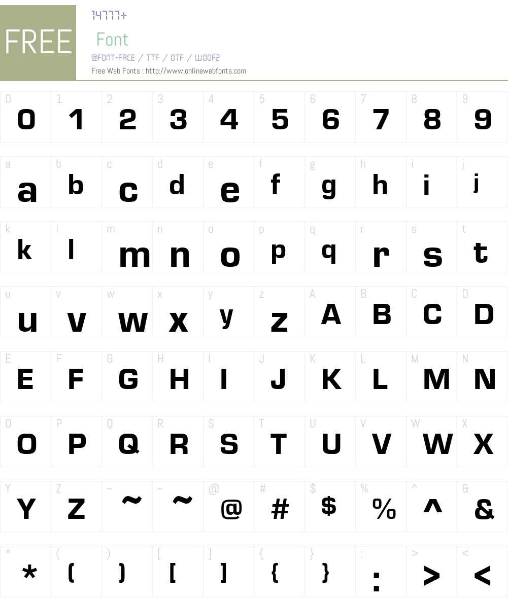 MicroSquare-Heavy Font Screenshots