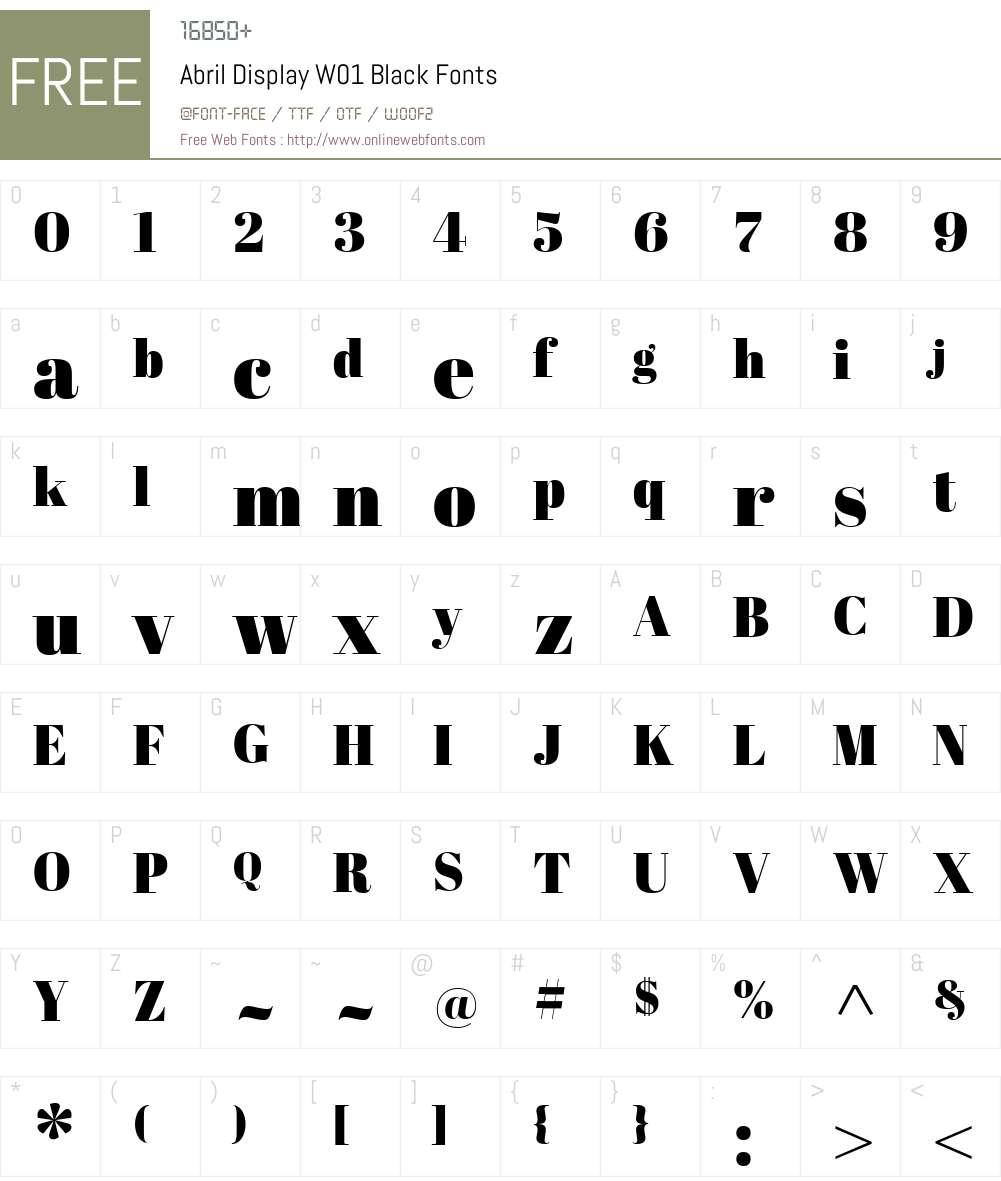 AbrilDisplayW01-Black Font Screenshots