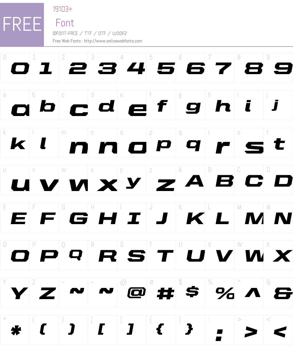 United Italic Ext Font Screenshots