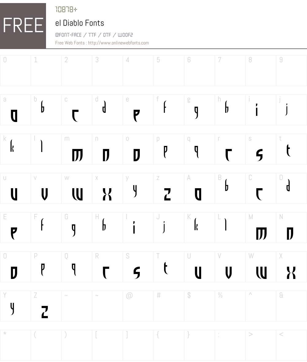 el Diablo Font Screenshots