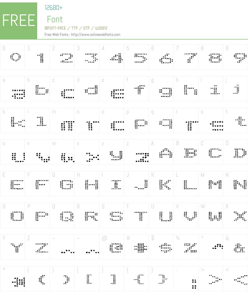 Telidon Ink Ex Font Screenshots