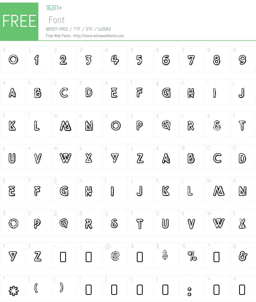 Tight-Regular Font Screenshots
