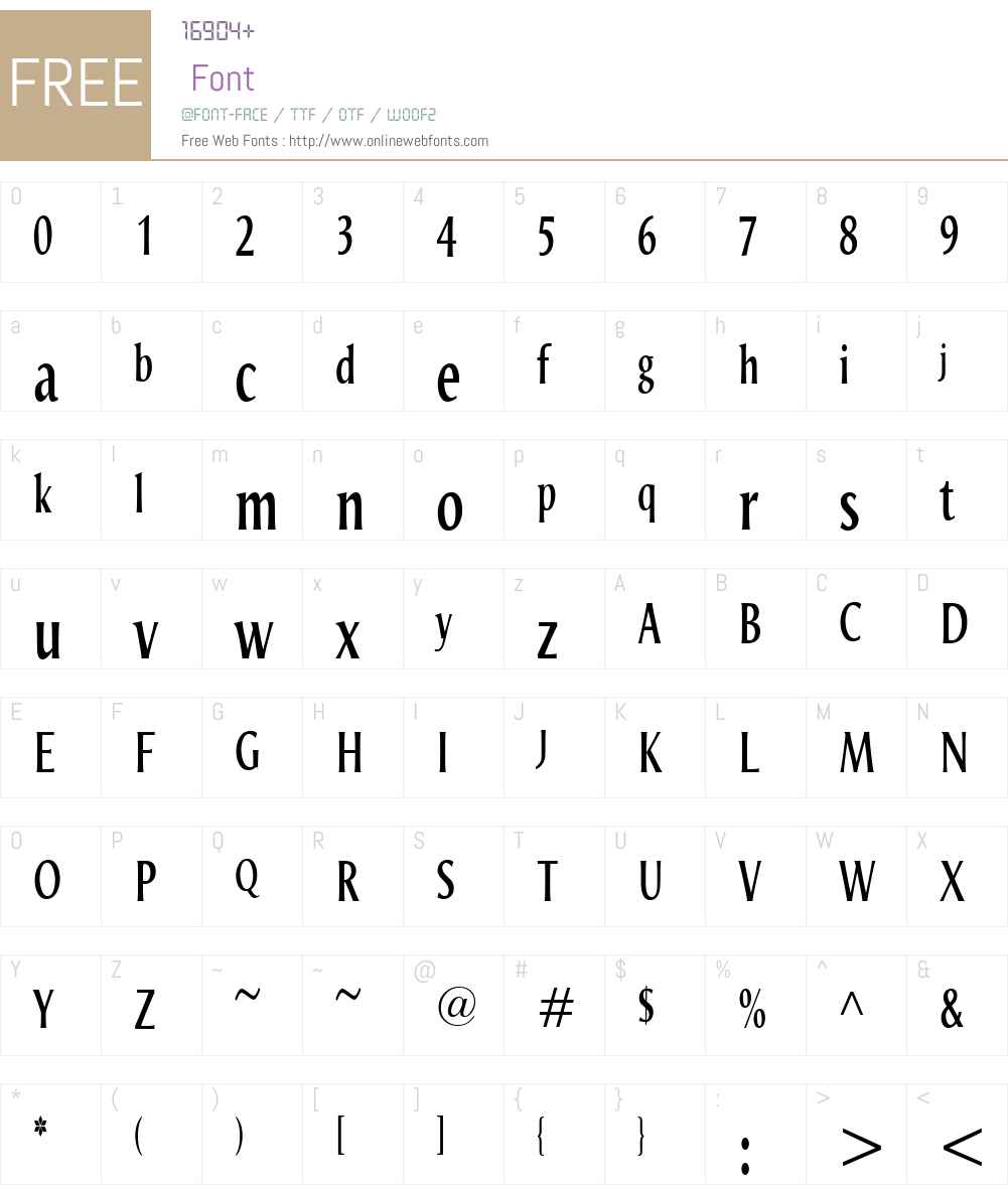 OdenseW00-Compressed Font Screenshots