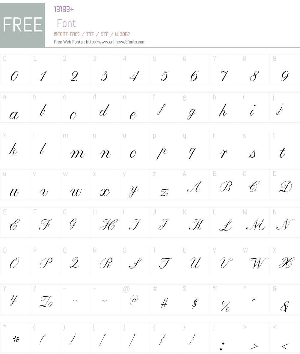 Baronesse Font Screenshots