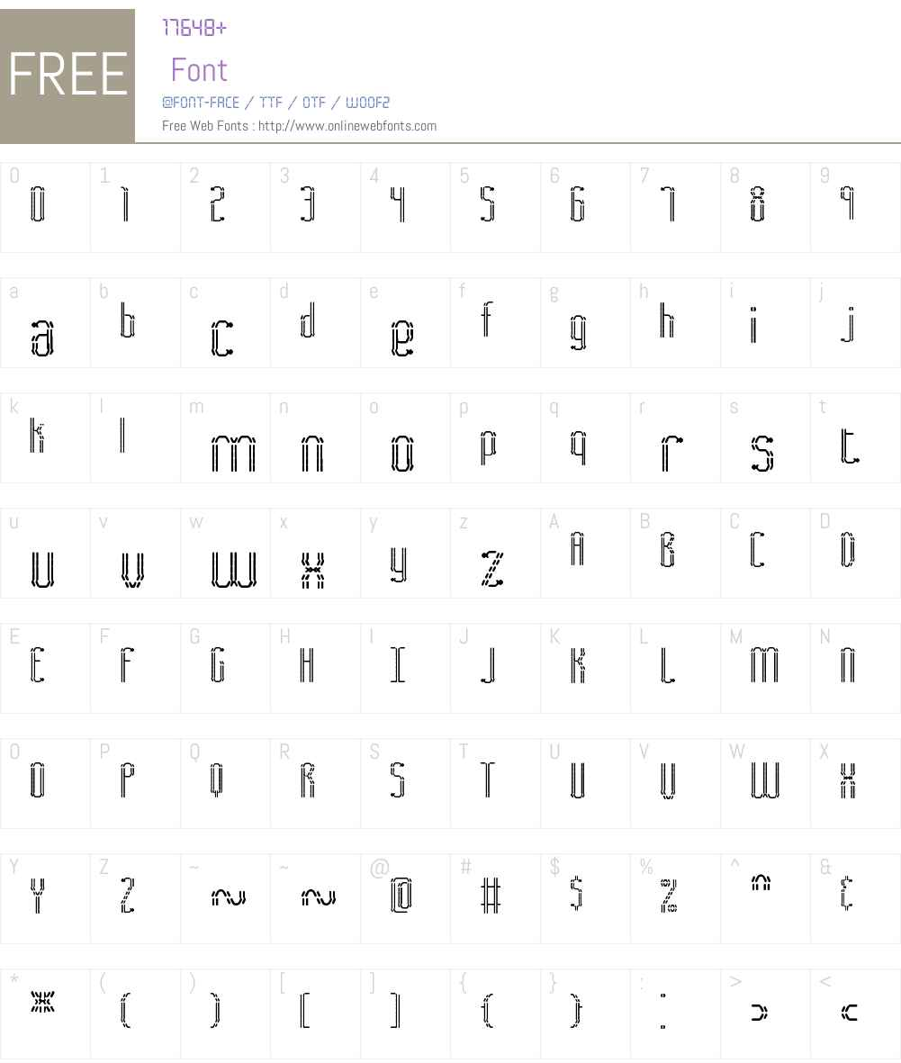 Fascii BRK Font Screenshots