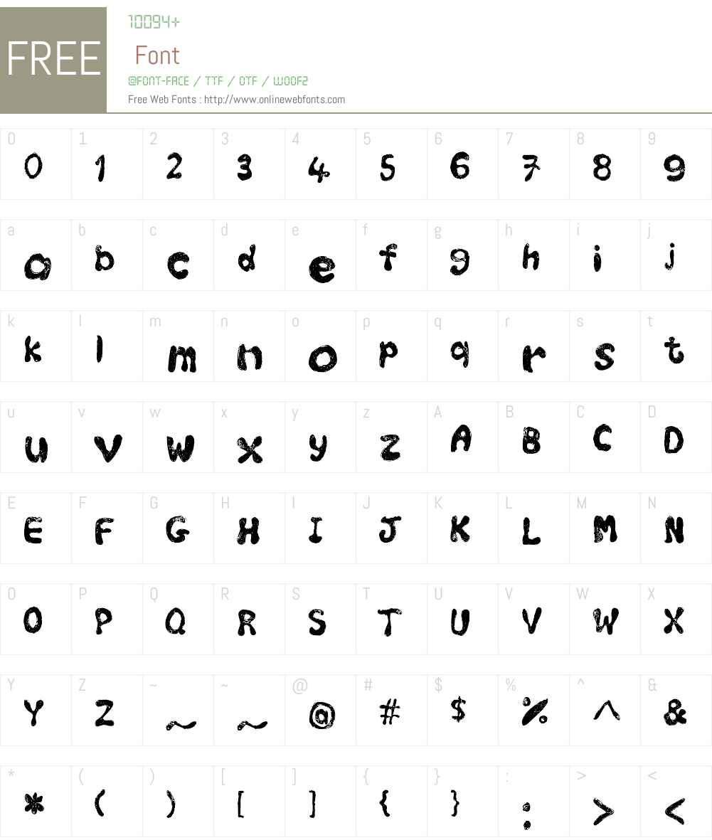 Shquiboo Font Screenshots