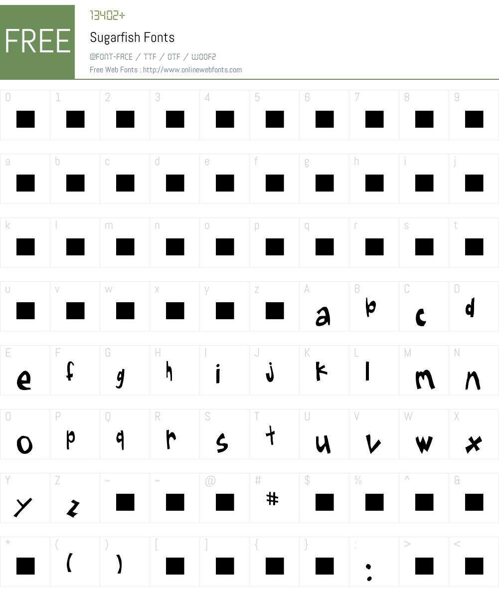 Sugarfish Font Screenshots