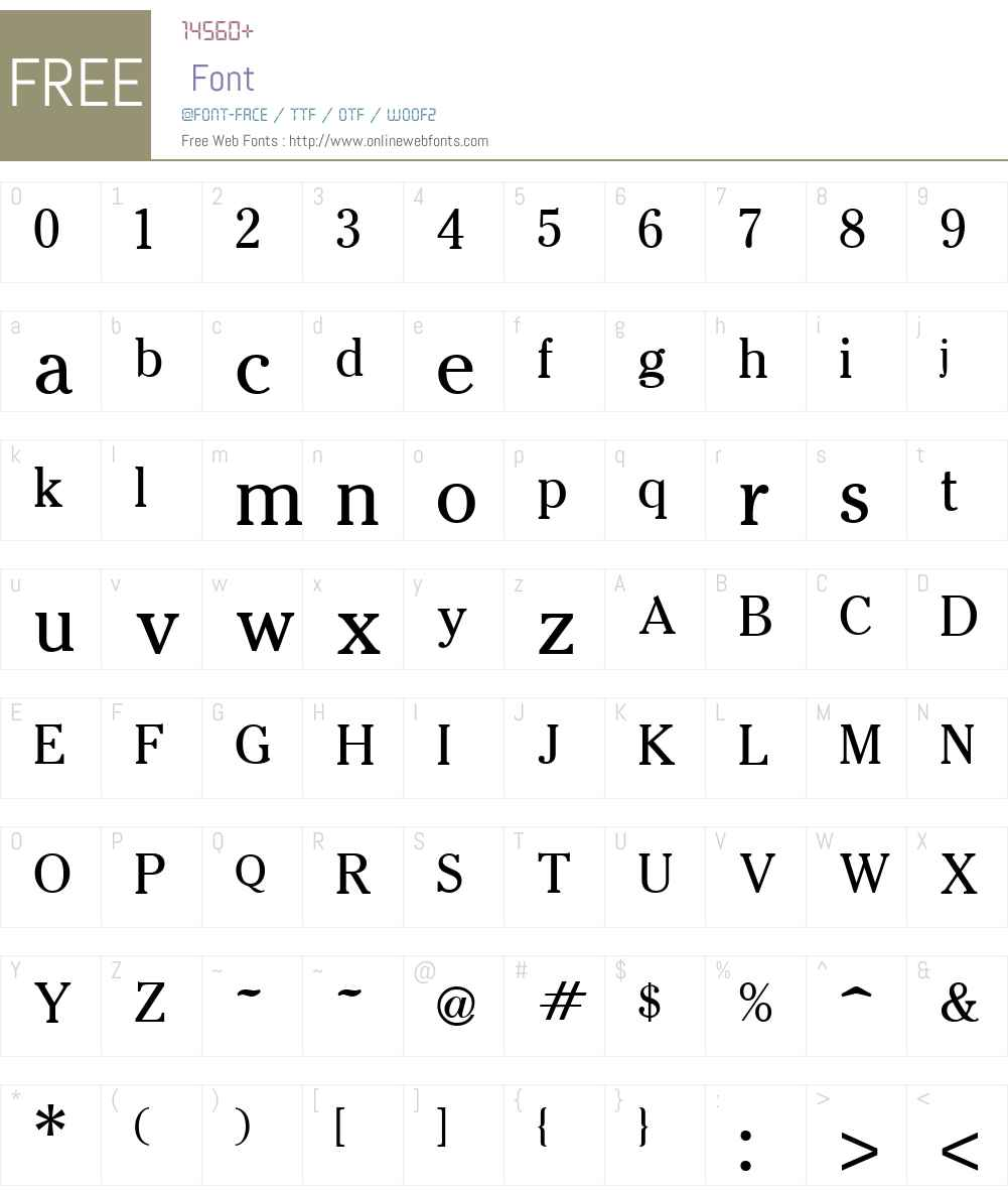 Cheltenham Font Screenshots