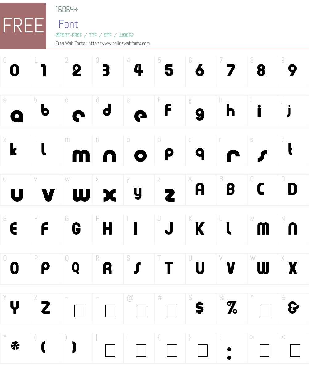 Evia Display SSi Font Screenshots