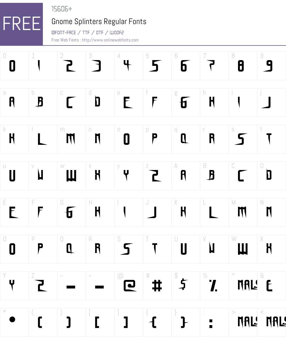 Gnome Splinters Font Screenshots