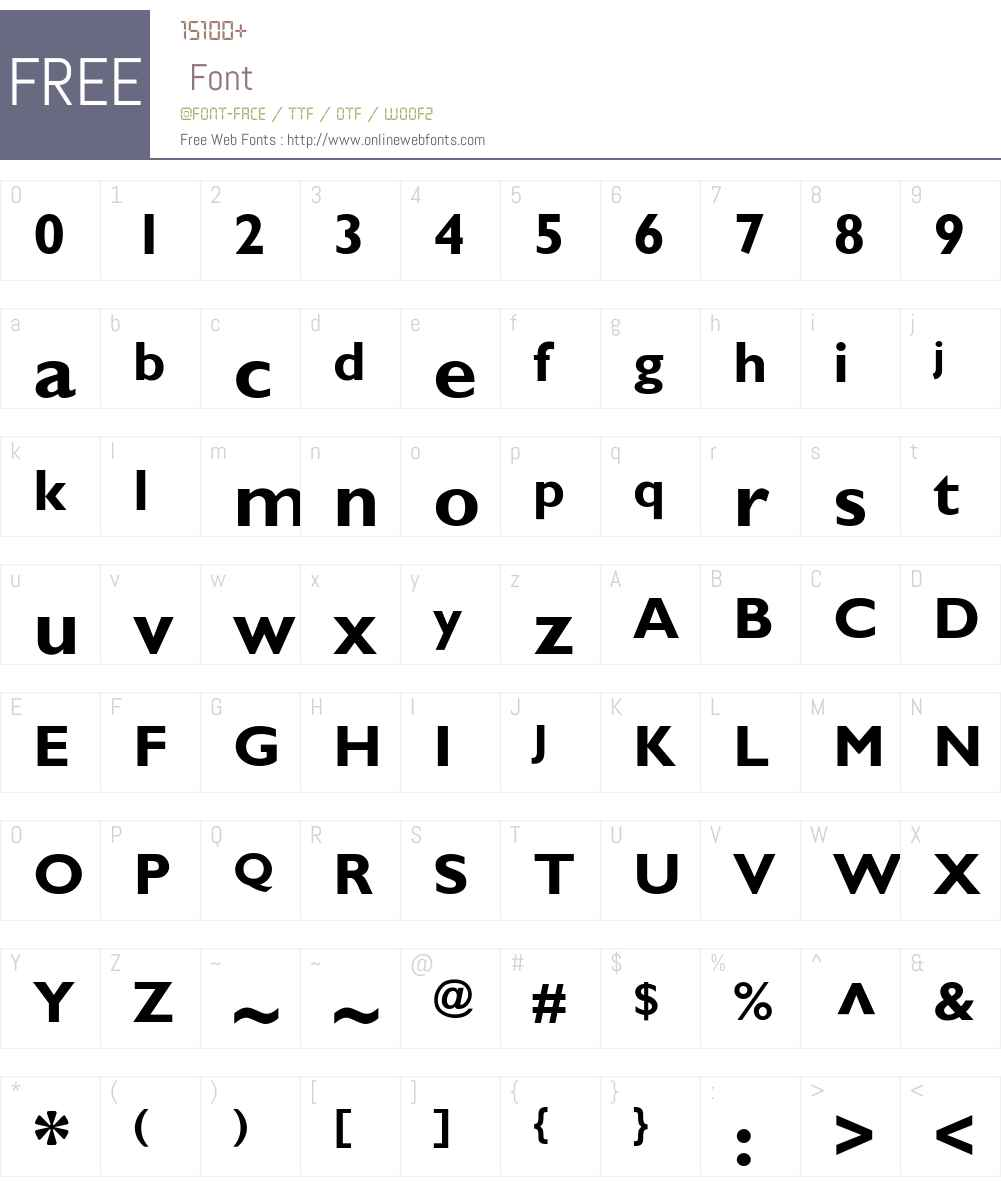 GillSans-Bold Font Screenshots