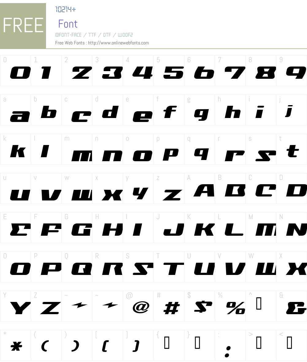 NationalyzeALP Font Screenshots