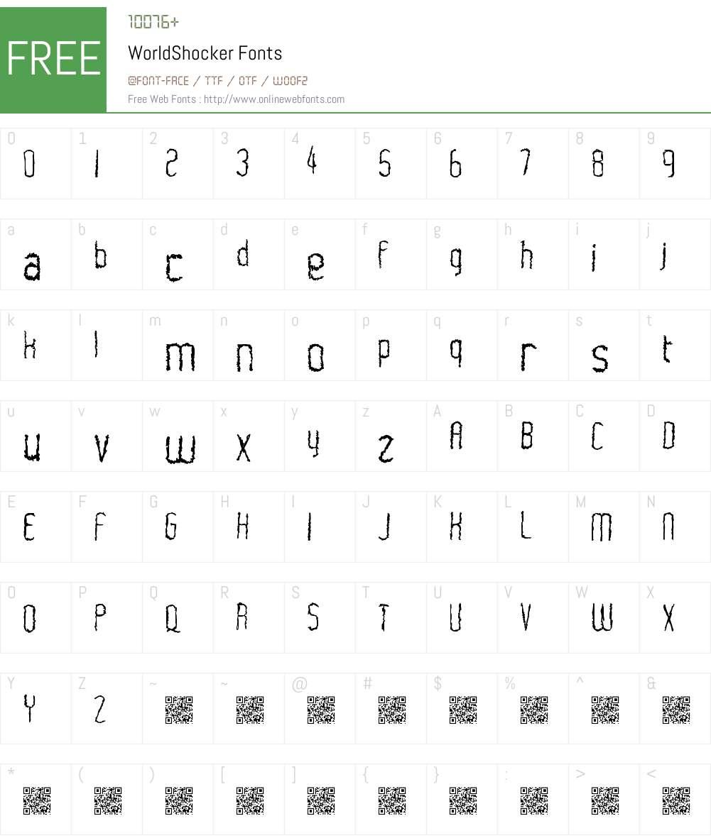 WorldShocker Font Screenshots