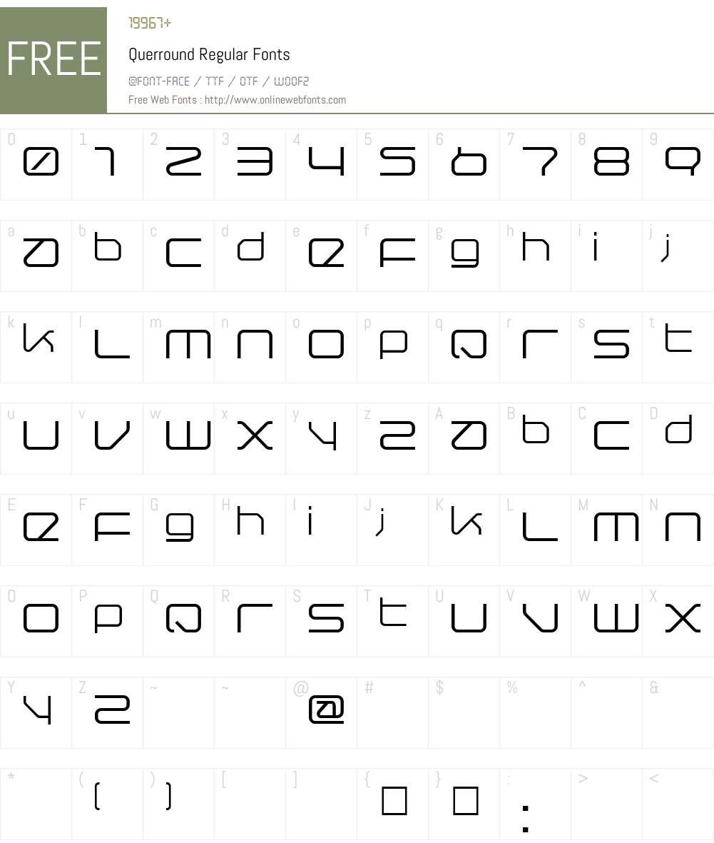 Querround Font Screenshots
