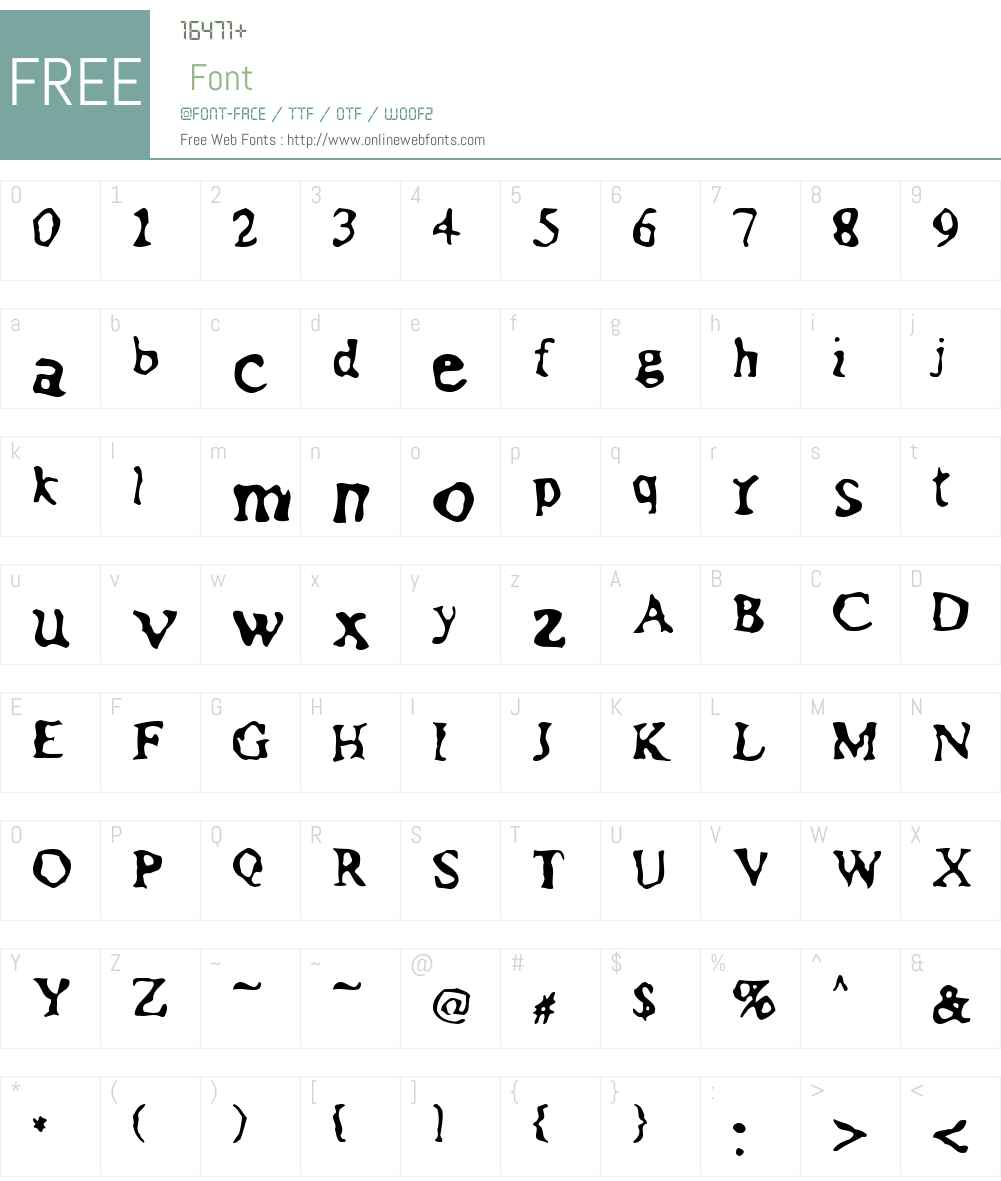 Assimilation Font Screenshots