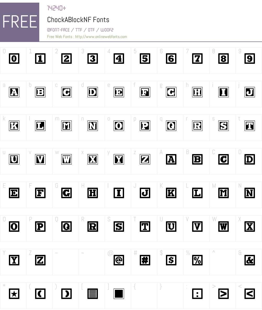 Chock A Block NF Font Screenshots