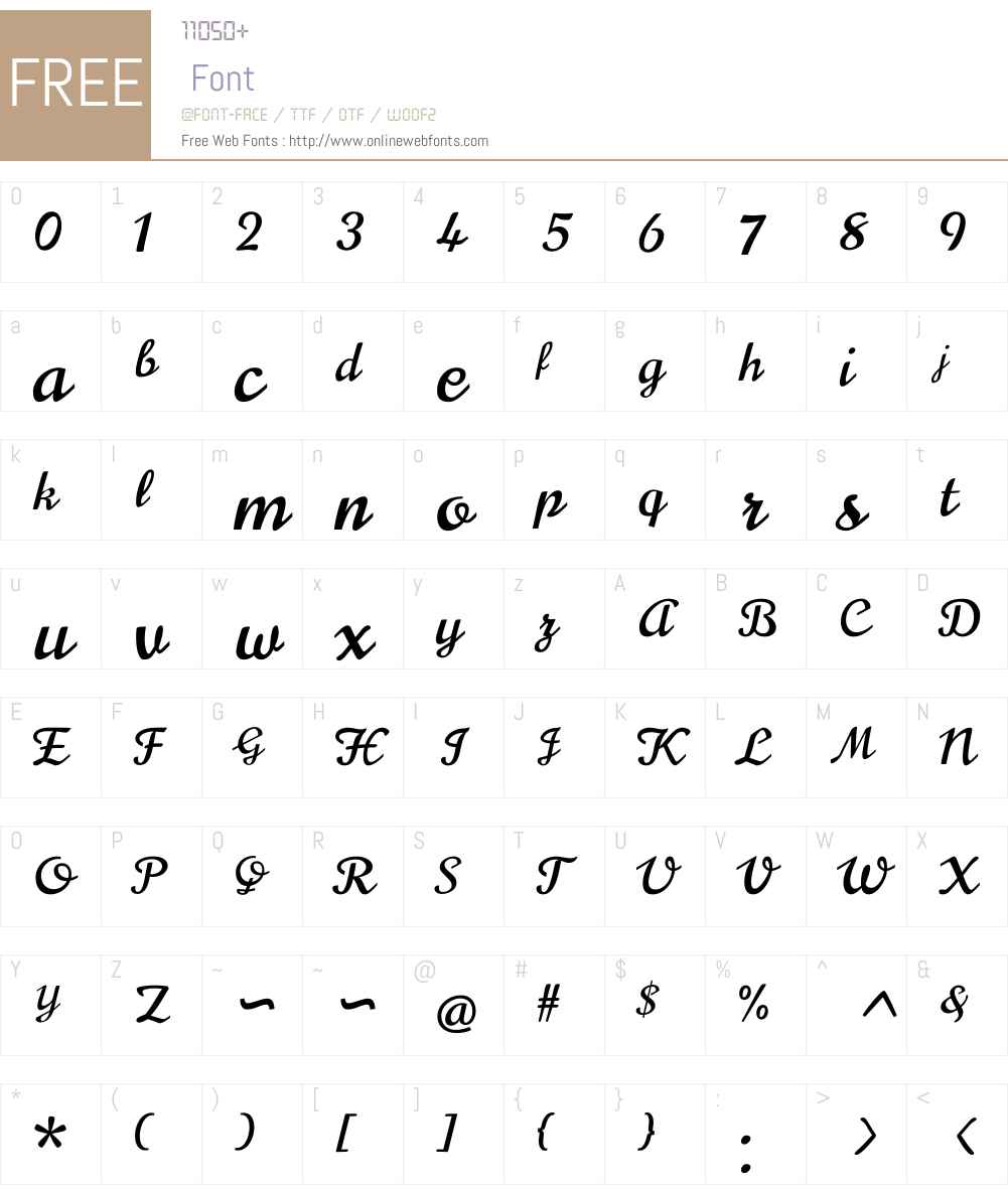 Norican Font Screenshots