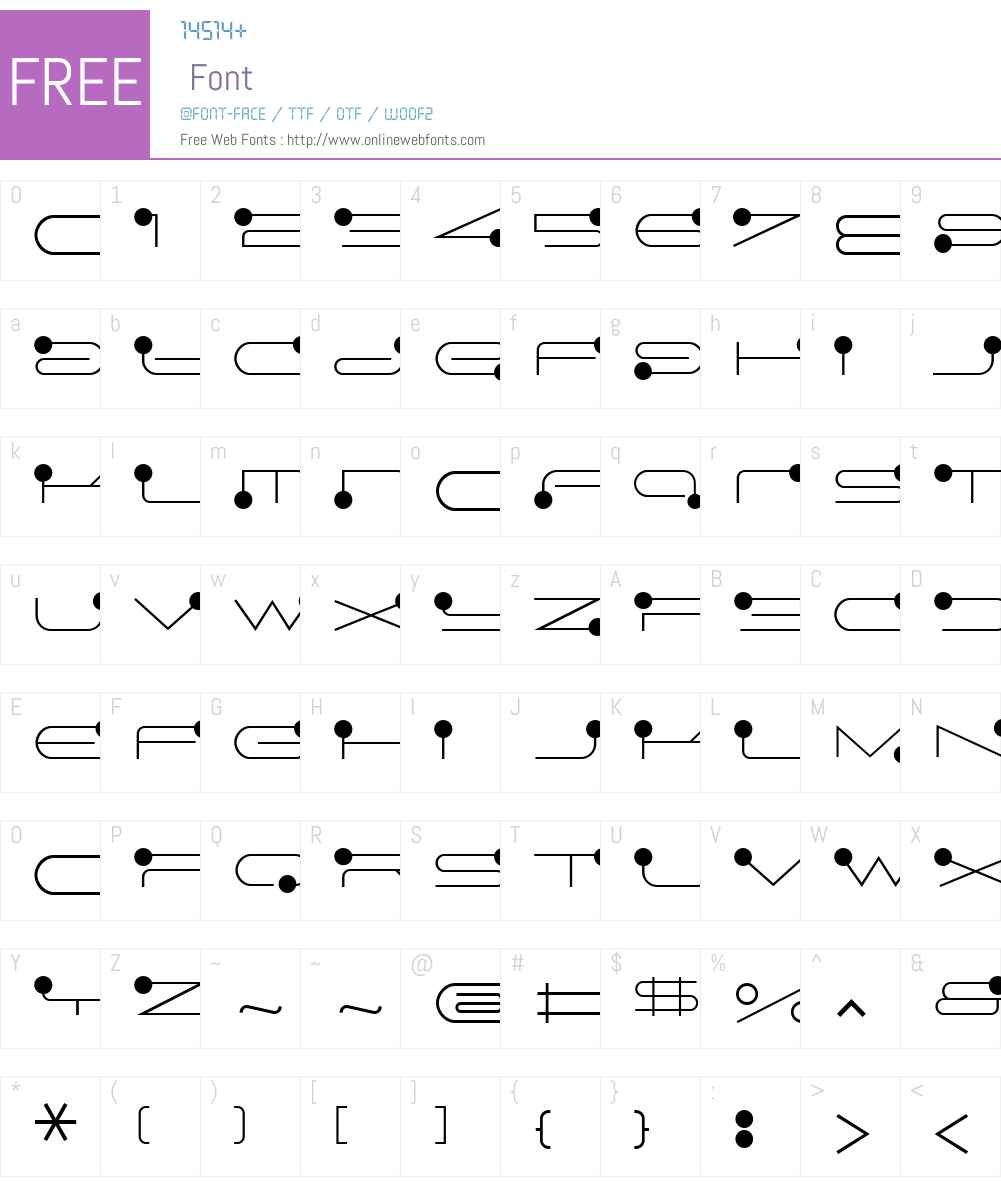 FF Droids Font Screenshots