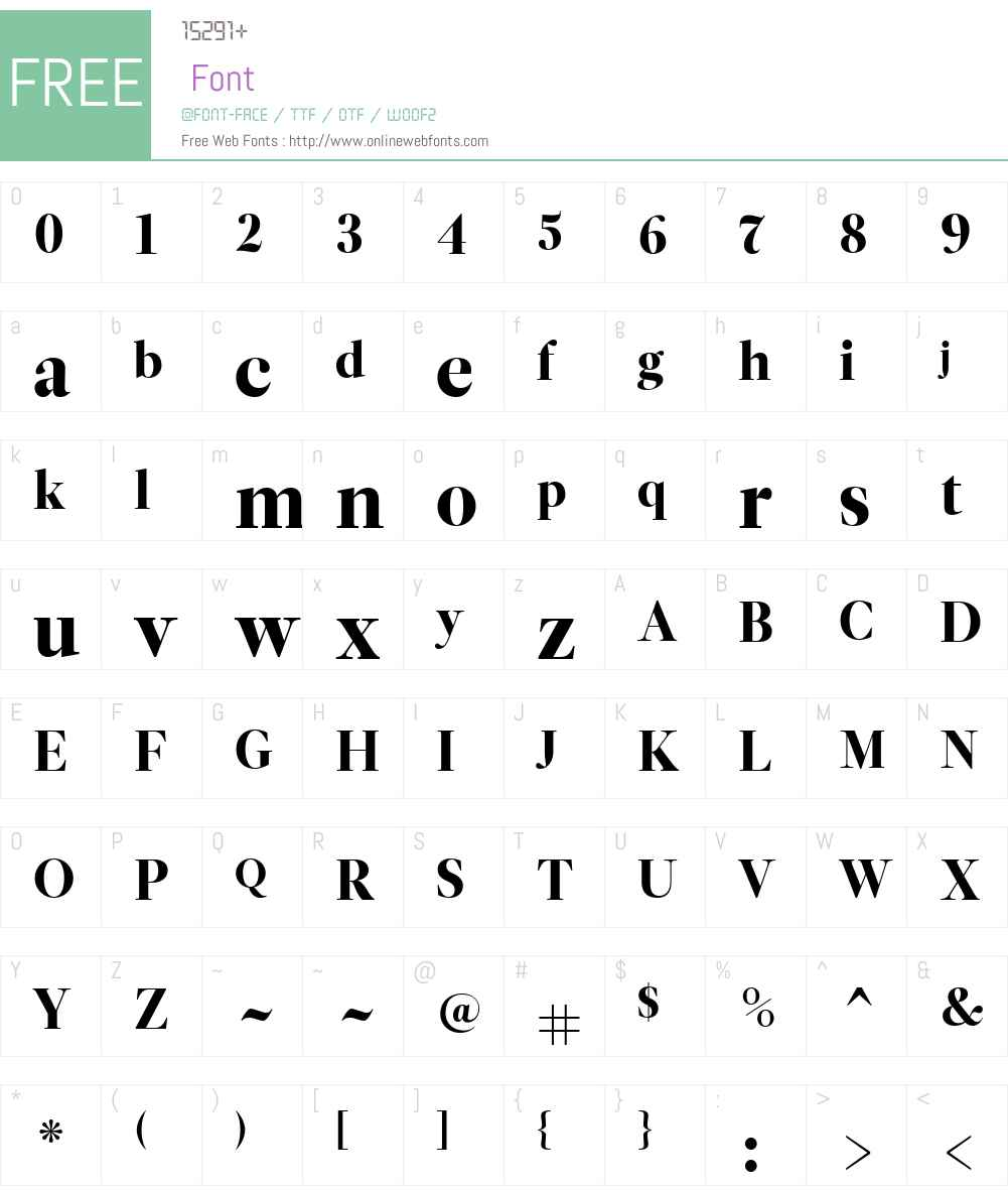 LeituraW01-DisplayRoman Font Screenshots