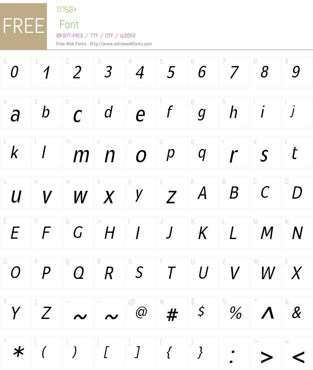 MensaCondensedW01-BookIt Font Screenshots