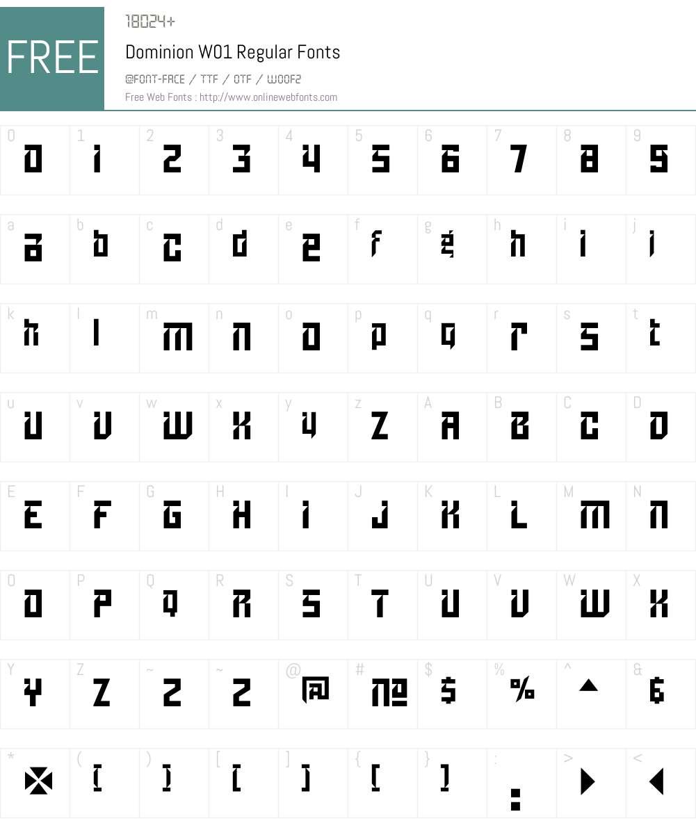 DominionW01-Regular Font Screenshots
