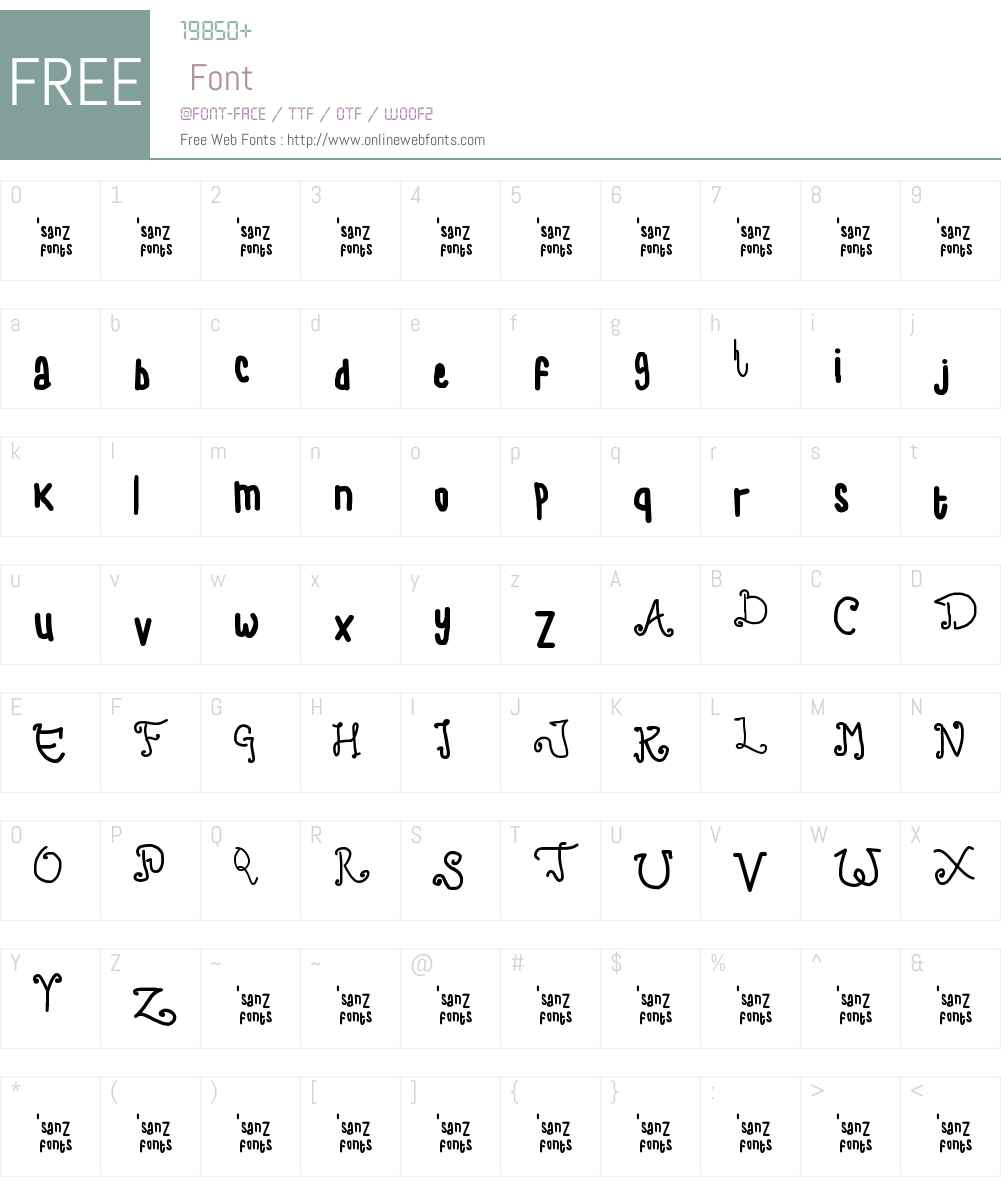 child writing Font Screenshots
