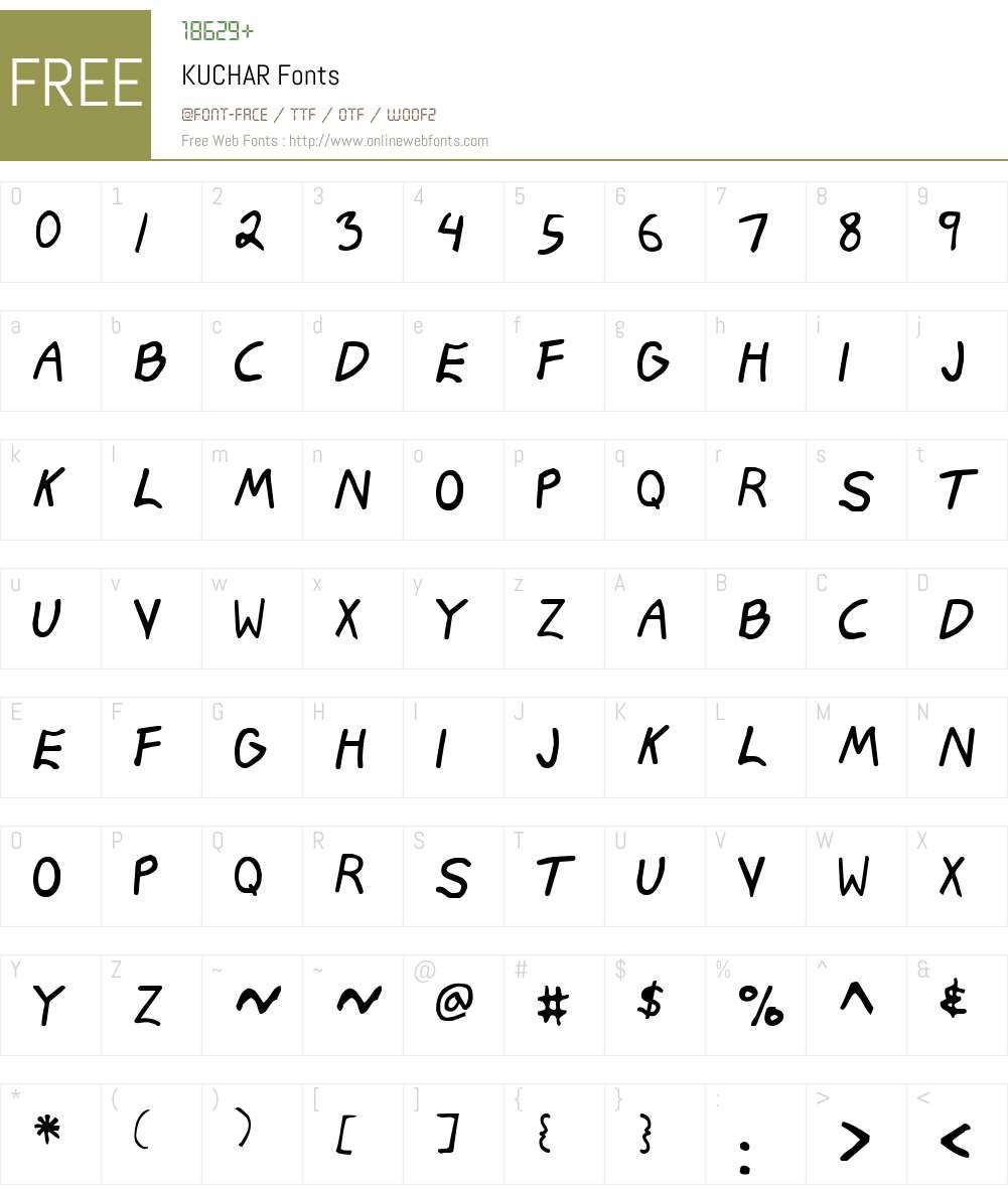 KUCHAR Font Screenshots
