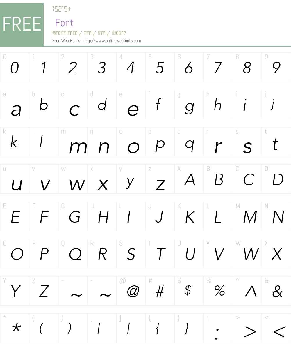 Expo Light SSi Font Screenshots