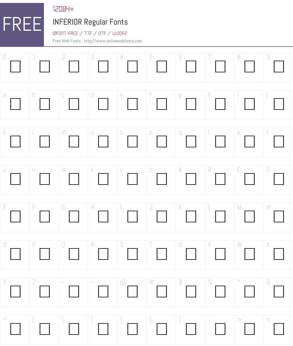 INFERIOR Font Screenshots