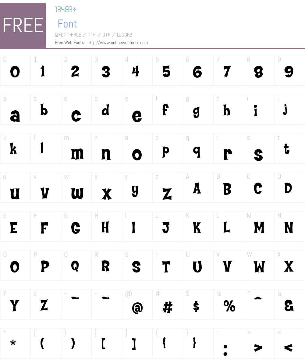 TypographyofCoop-Flaired Font Screenshots