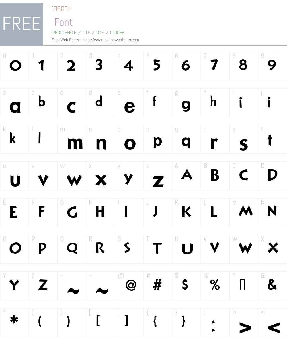 NuevoLitho Font Screenshots
