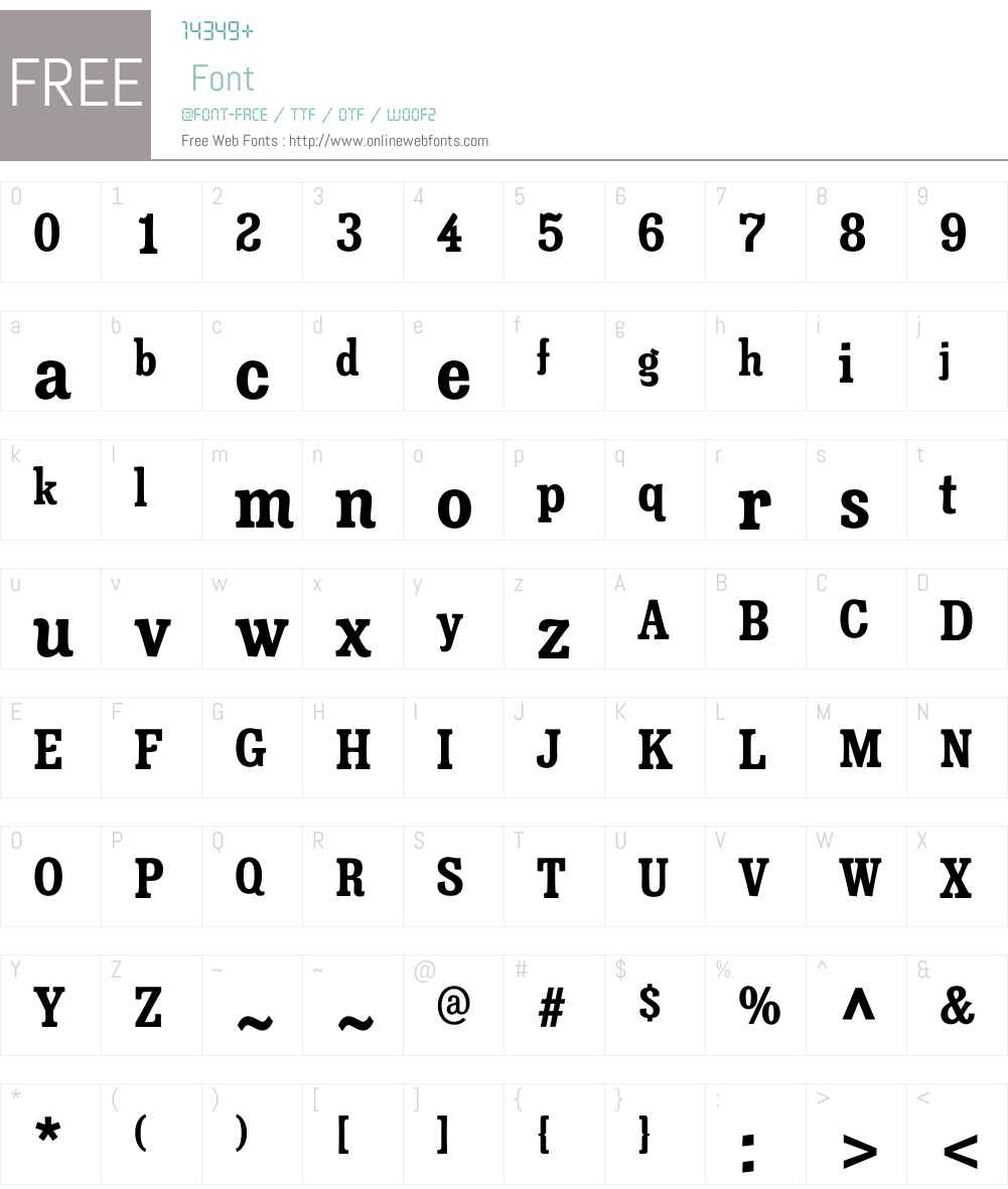 MinernilCdW00-Bold Font Screenshots