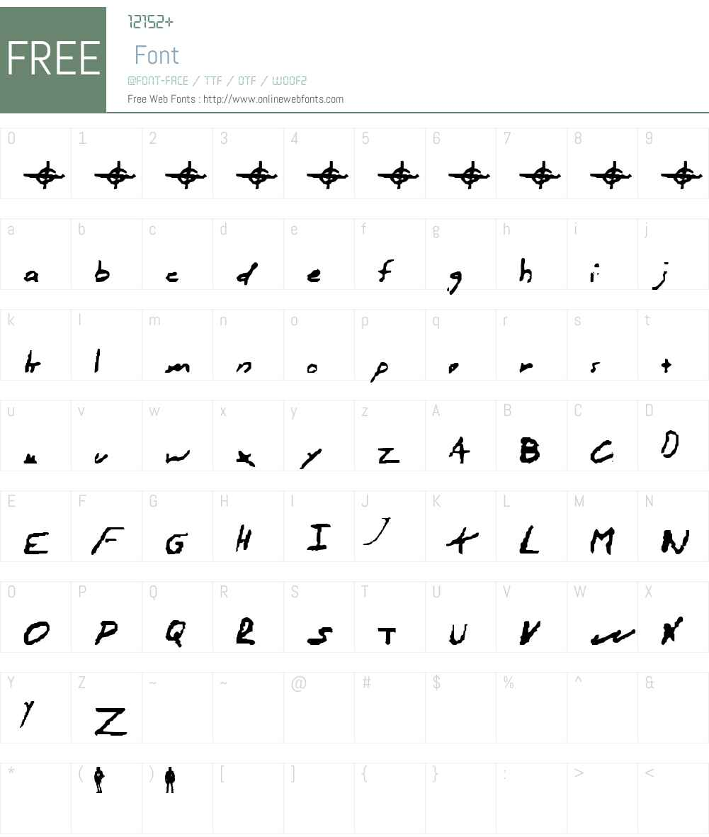 Zodiac hand Font Screenshots