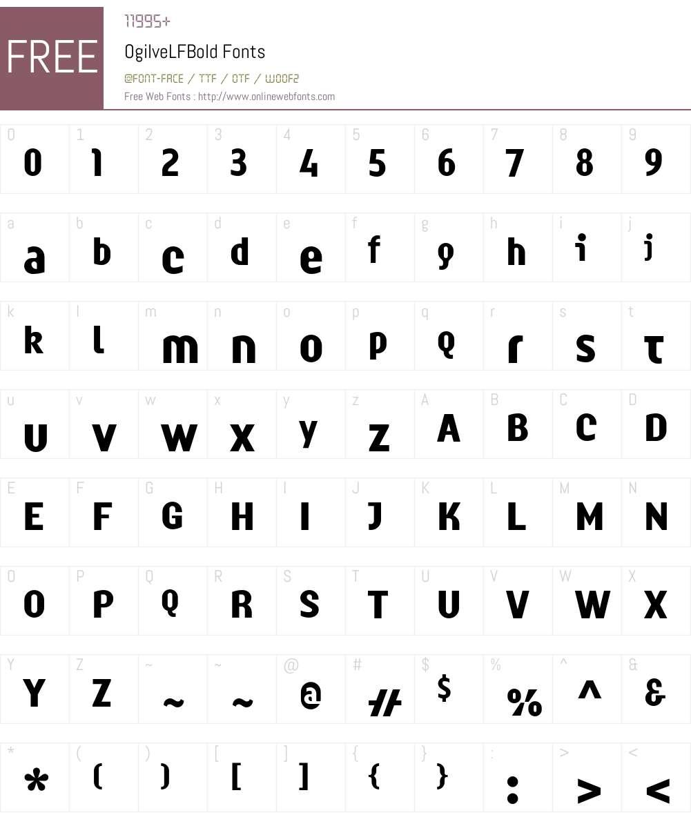 OgilveLFBold Font Screenshots