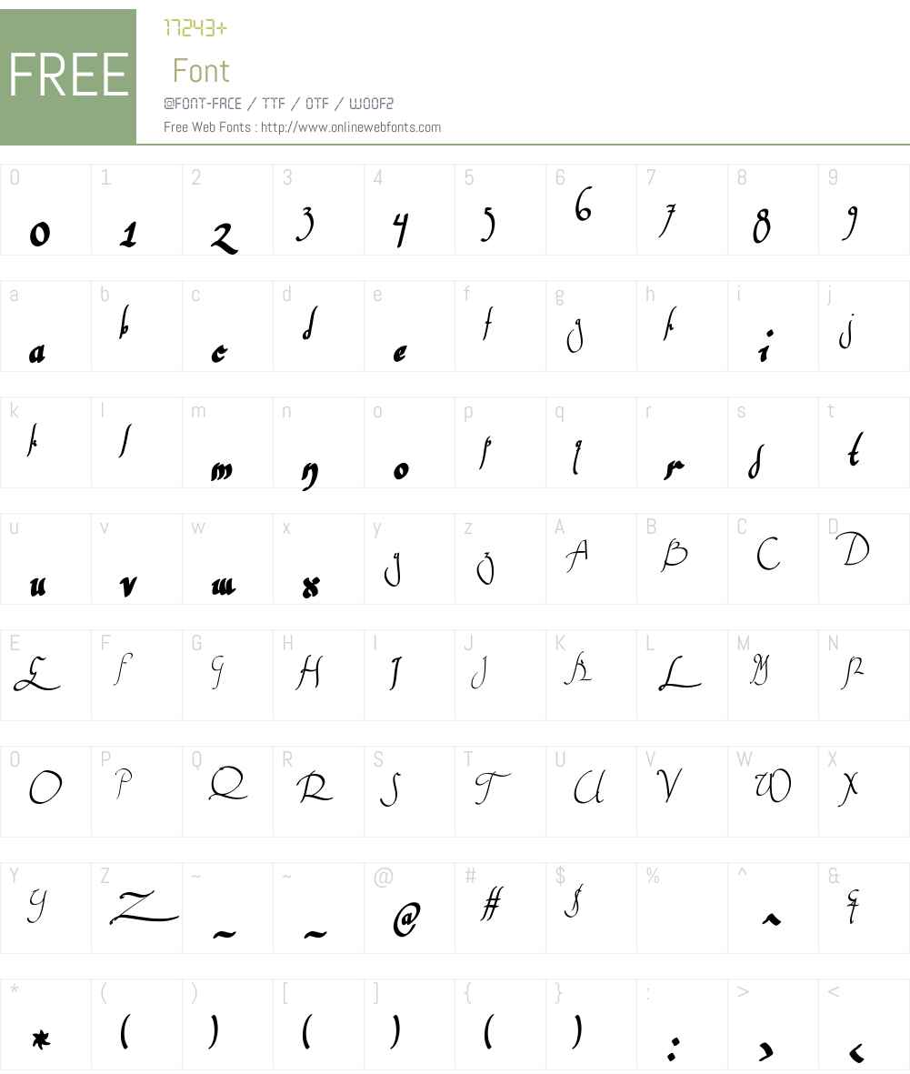 WankstabergBattlesW00-Reg Font Screenshots