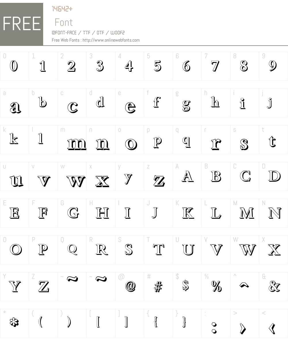BambergShadow-Medium Font Screenshots