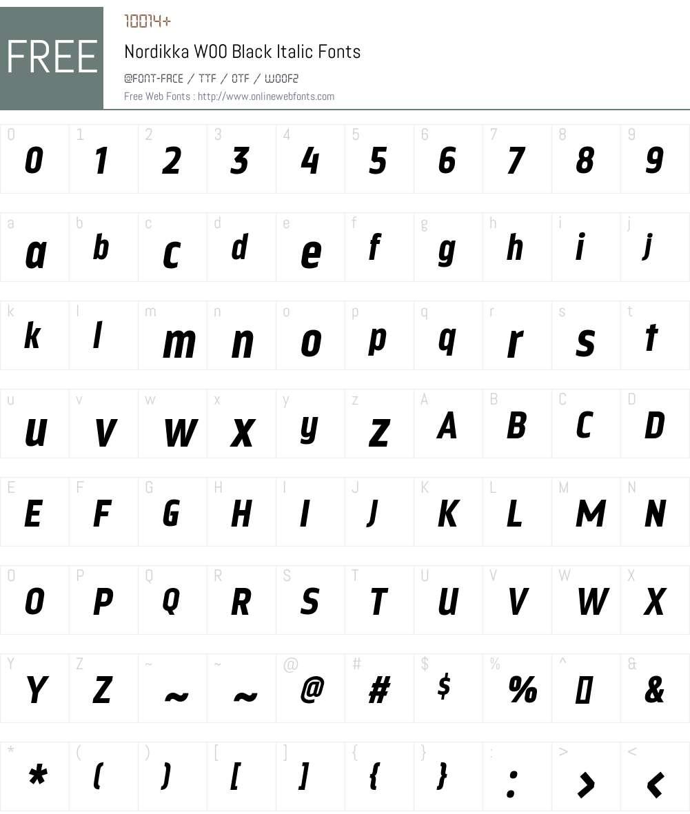 NordikkaW00-BlackItalic Font Screenshots