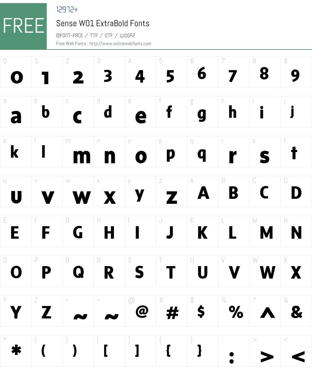 SenseW01-ExtraBold Font Screenshots