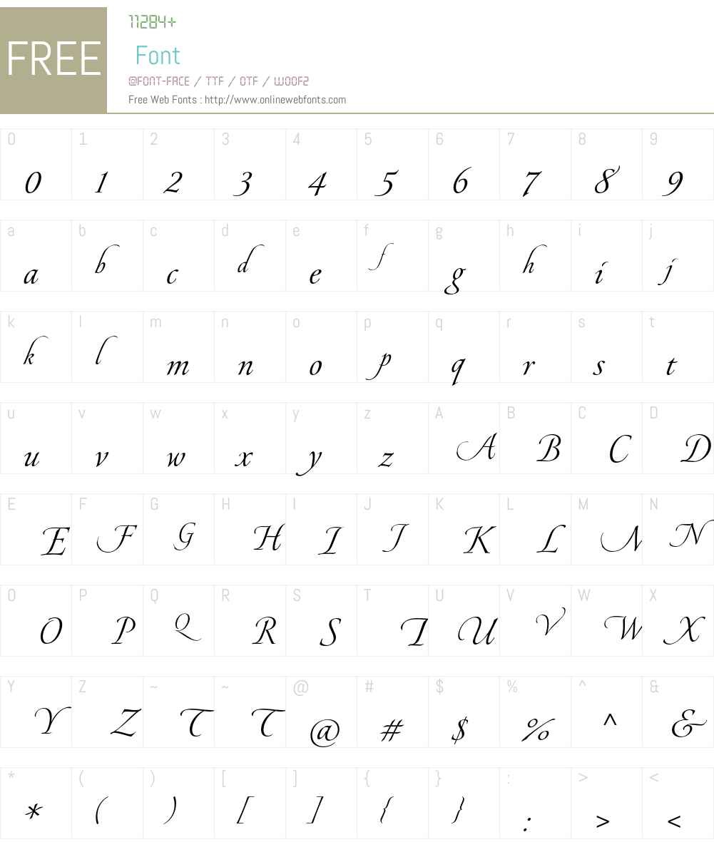 Pirouette LT Std Font Screenshots