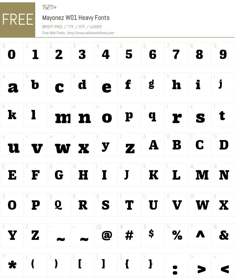MayonezW01-Heavy Font Screenshots