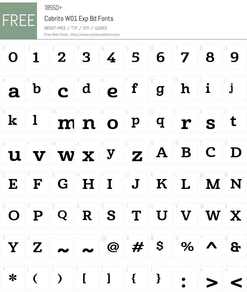CabritoW01-ExpBd Font Screenshots