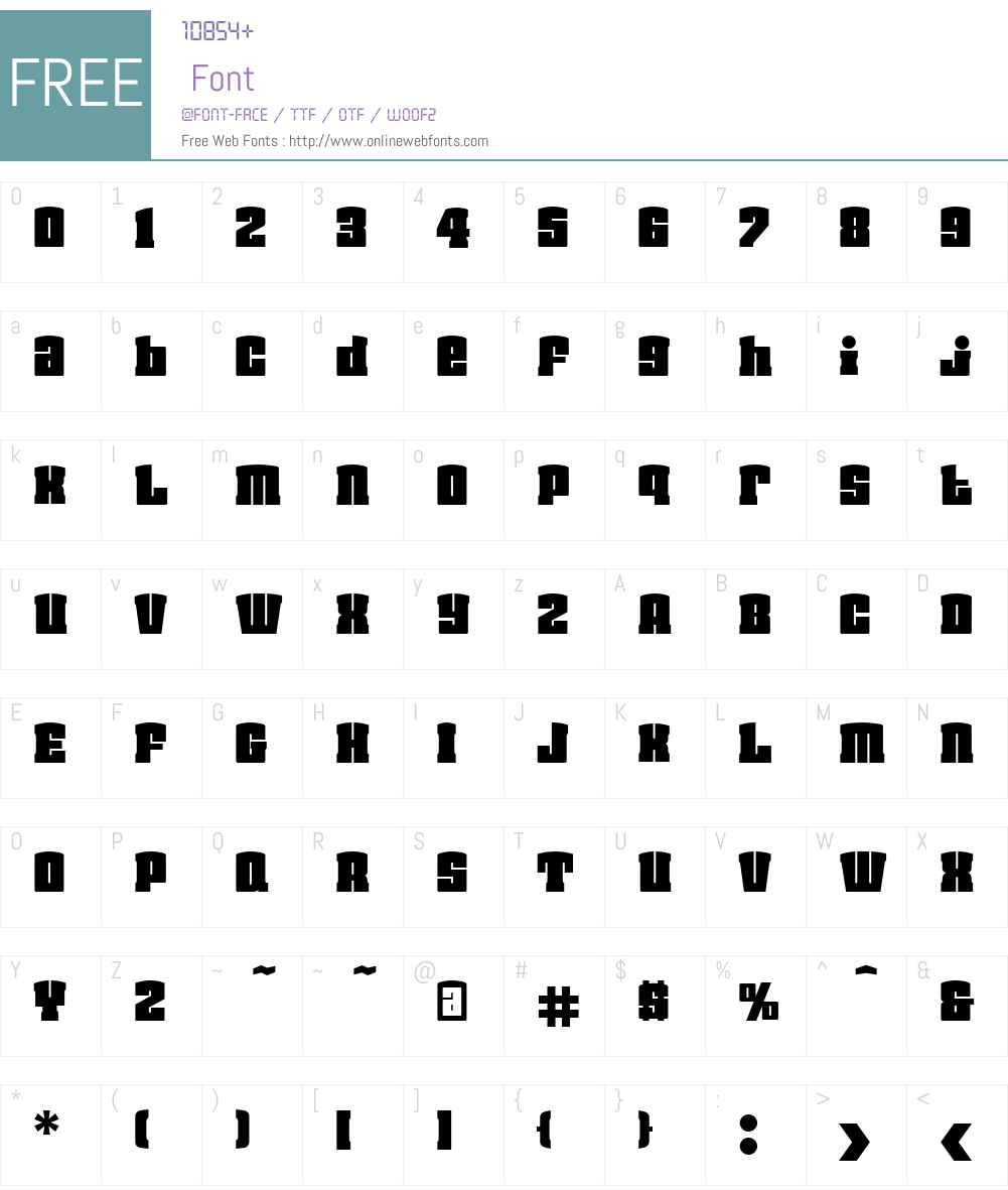 FlavaHiOTW01-Regular Font Screenshots